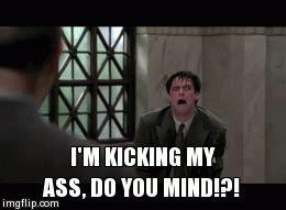 Im kicking my ass do you mind gif Jim Carrey Liar Liar Imgur
