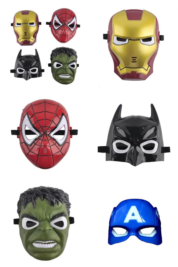 [Visit to Buy] LED Glowing Halloween superhero Face mask Avengers Marvel Captain America Spiderman Hulk Iron man Batman Party Facial Eye Masks  #Advertisement