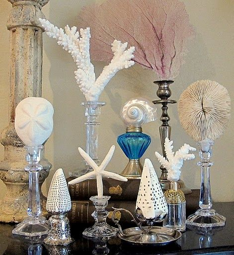 Sea life candlesticks