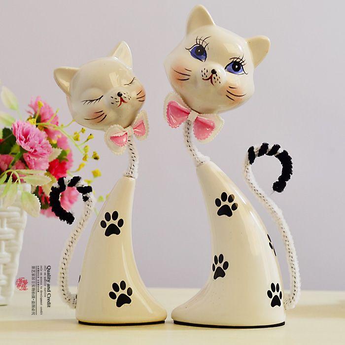 gatos en ceramica pintados a mano - Buscar con Google
