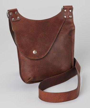 Look at this #zulilyfind! Brown Leather Crossbody Bag by I Love Accessories #zulilyfinds