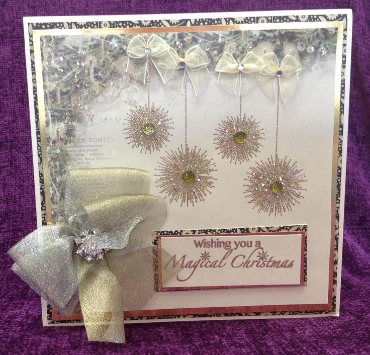 Card made by Barbara using Stamps by Chloe Starburst Baubles Stamps by Chloe Magical Christmas Pion Design Paper