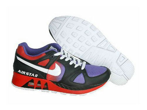 N20377 Nike Air Max 89 Shoes Mens Black/Red/Lilac Clearance