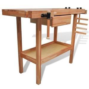 Etabli - Meuble Atelier Etablis Etabli de menuisier en bois avec tiroir et