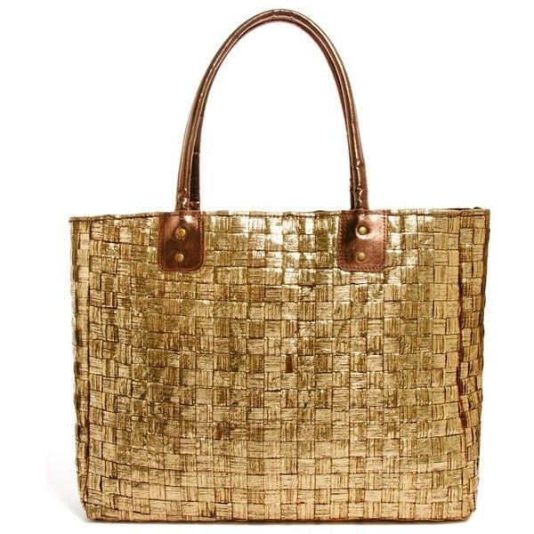 New Look Hawaii Beach Bag ($17) ❤ liked on Polyvore featuring bags, handbags, purses, brown handbags, brown purse, beach bag, new look purses and brown hand bags