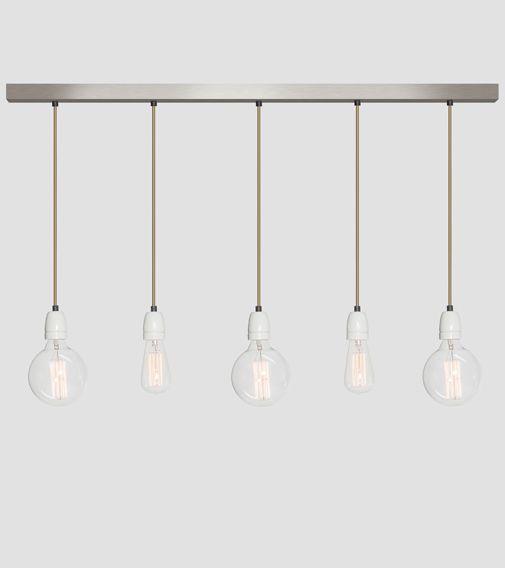 Hetlichtlab | No.12 balk RVS 5 lichts | Hanglampen | Verlichting |