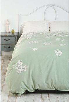 Mint green bedding