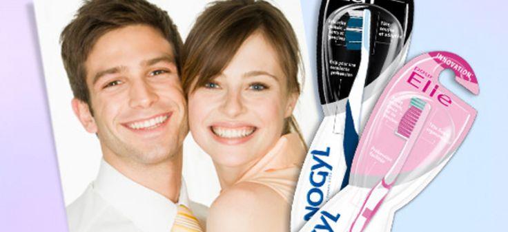 La brosse à dent «pour elle» et «pour lui» de Sanogyl
