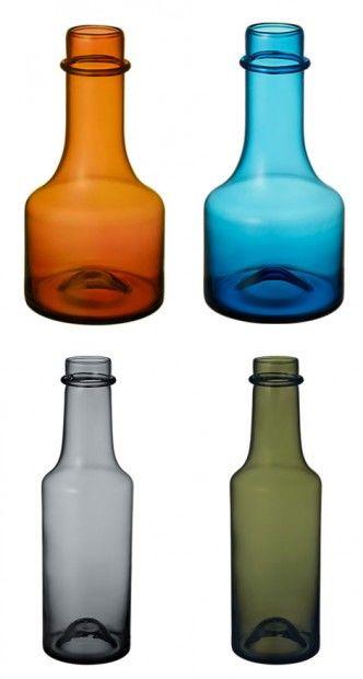 Design glass bottles by Tapio Wirkkala