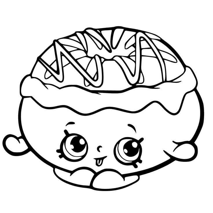 Print Cheesecake Shopkins Season 3 Coloring Pages Cooki Soda Pops