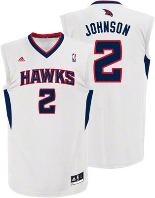 Atlanta Hawks Joe Johnson 2 White Authentic NBA Jersey Sale