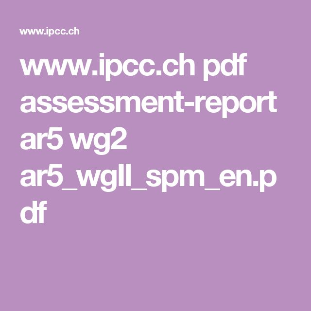 www.ipcc.ch pdf assessment-report ar5 wg2 ar5_wgII_spm_en.pdf