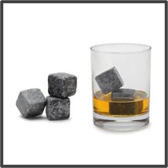 The Whiskey Stones will keep your drink cold but not dilute it.  Use again and again.
