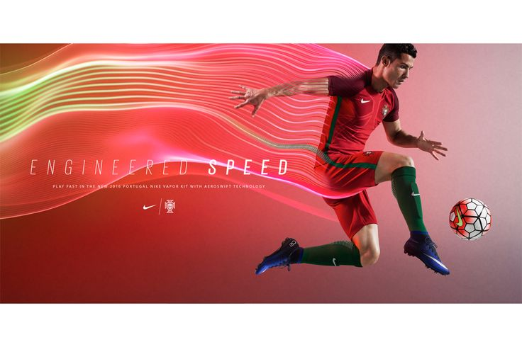 Interpreting a concept of Light Speed, Village Green worked alongside Nike Football Brand Design to create campaign images for the 2016 National Team Kit launch. Motion capture technology was used to create athlete action images showing fibres flowing from the kit, and transforming into light-lines that track the athletes motion. The new Nike Vapor kits...