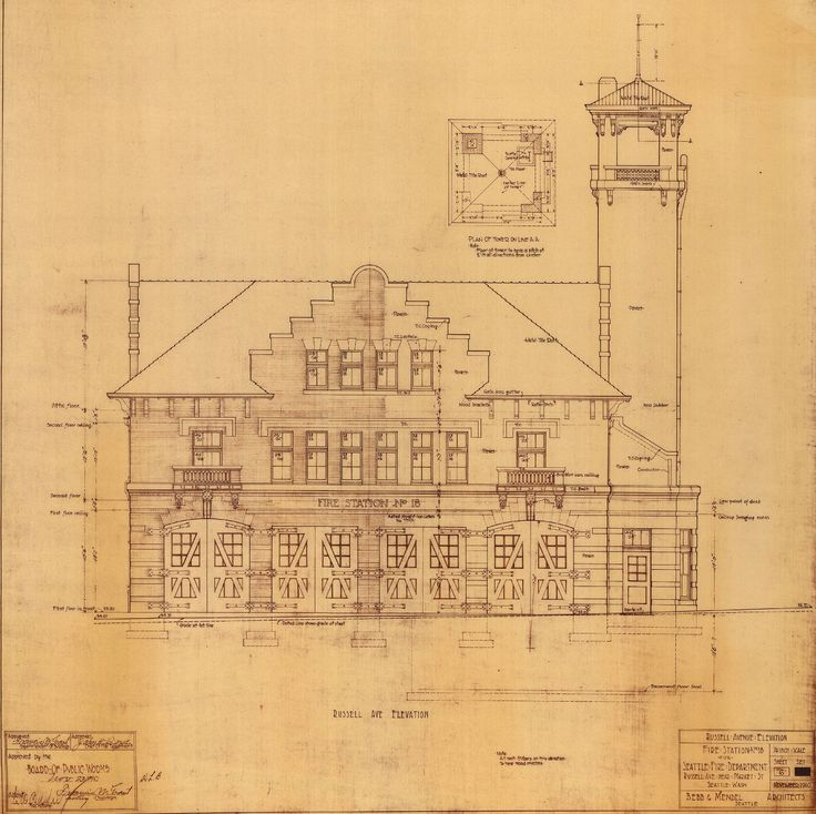 10 best fire station blueprints images on pinterest architecture front elevation architecture of the pacific northwest collection malvernweather Image collections