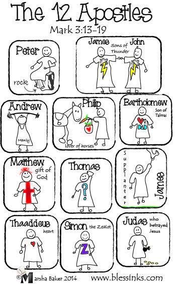 Bulletin Cover – The 12 Apostles