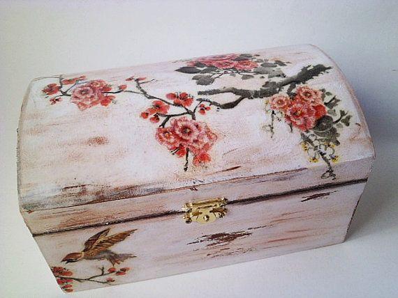 Decoupage Wooden Jewerly Box