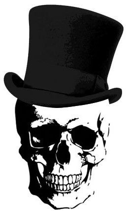 Skull and top hat