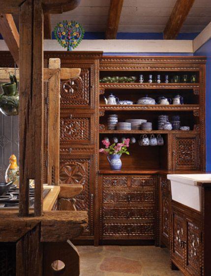 Carved Cabinet Custom Designed Cabinets Kitchen Cabinet