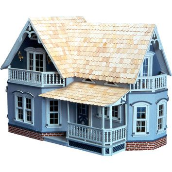 Features: Product Type: -Dollhouse. Dollhouse Style: -Farmhouse. Color: -Unfinished. Primary Material: -Wood. Age Group: -3 to 4 Years/5 to 6 Years/7 to 8 Years/9 to 10 Years/11 to 12 Years/13+ Y