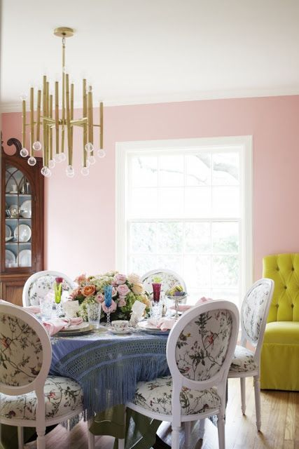 The Glam Pad: Peppermint Bliss Pink Dining Room