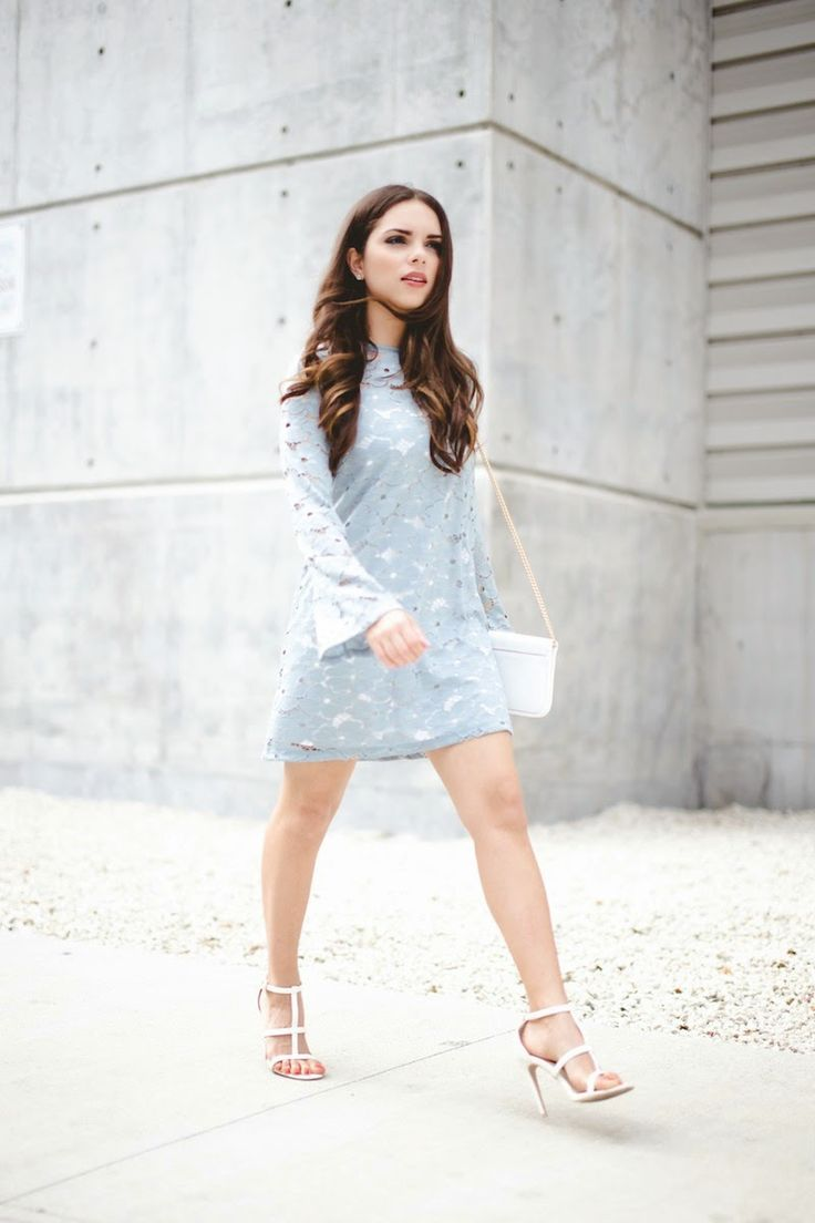 Buy motel coco backless bodycon dress in hot pink at motel rocks - Justthedesign Accessorise A Lace Dress Daniela Ramirez Is Wearing A Baby Blue Motel Rocks Lace Dress With A Henri Bendel Handbag