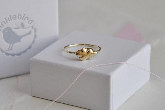 Cloud ring 14k yellow gold