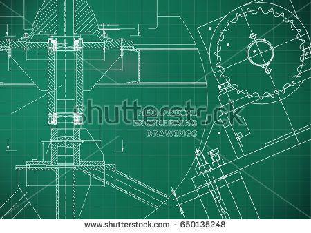 Engineering backgrounds. Technical. Mechanical engineering drawings. Blueprints. Light green. Grid  #bubushonok #art #bubushonokart #design #vector #shutterstock  #technical #engineering #drawing #blueprint   #technology #mechanism #draw #industry #construction #cad