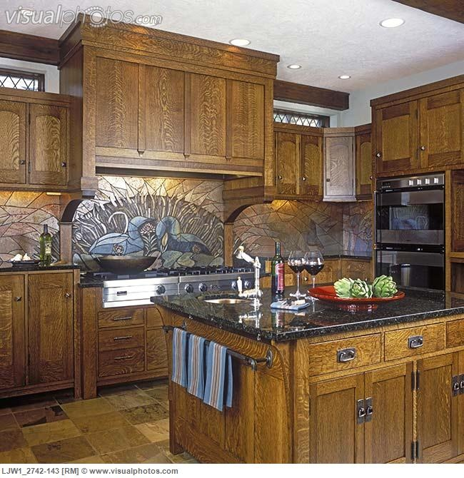 White Oak Kitchen Countertops: View Towards Stove And Island. Beautifully