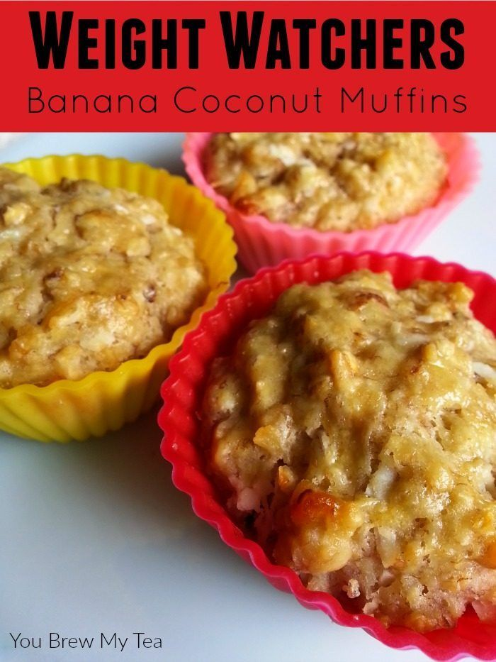 Weight Watchers Breakfast ideas like these banana coconut muffins are the ideal treat to start your day! Full of healthy fruit and coconut oil, they fuel your body for hours!