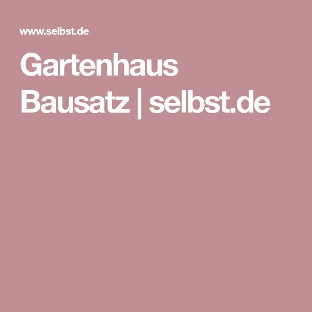 Gartenhaus Bausatz   selbst.de