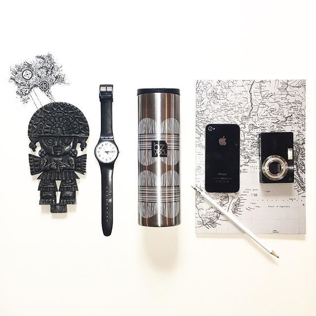 "Classic travel essentials: bzyoo ""brew"" #bzyoo #coffee #travel #swatches #holiday #tea #black #silver #stainlesssteel #health#inspiration #design #decor #style #home #homedecor #love #beauty #beautiful"