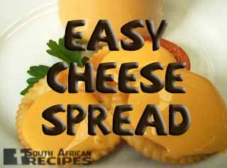 South African Recipes | EASY CHEESE SPREAD