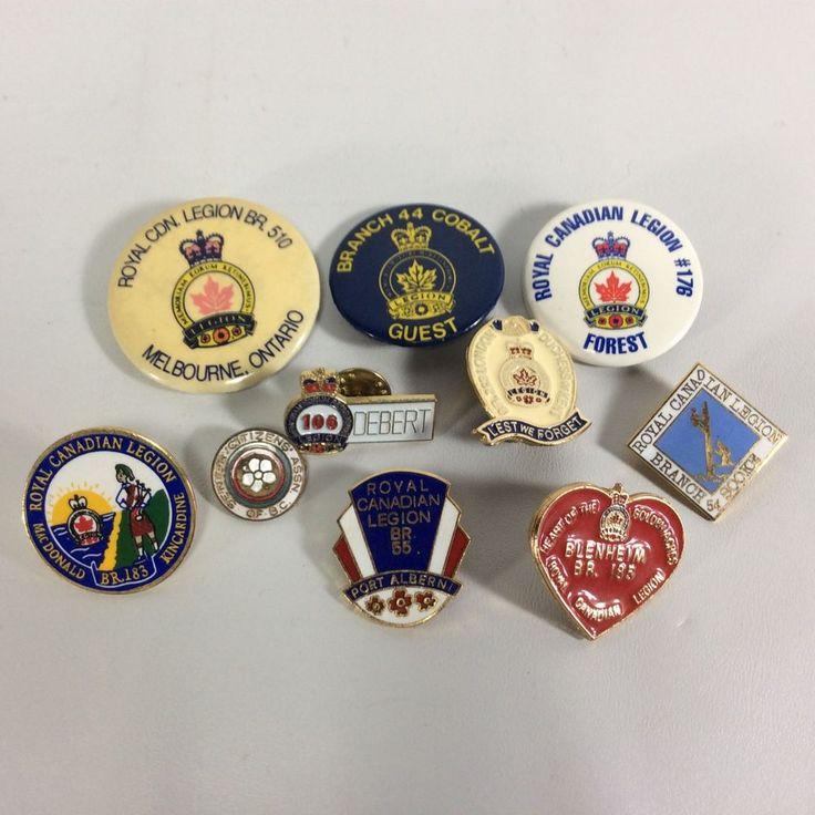 Legion Pins Regional Canadian Lot 17- Set of 10 Pins Debert Duchess of Kent more
