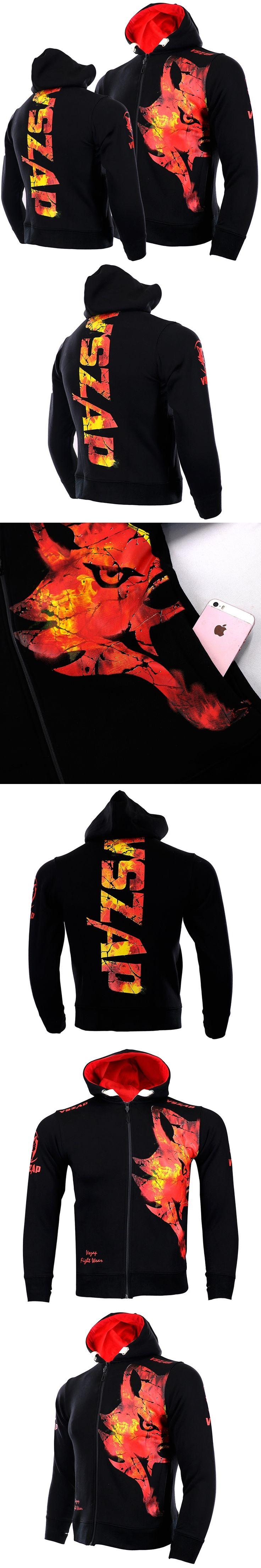 Men's Hoodie Jacket MMA Long Sleeve Fight VSZAP Genuine mma Fighting Fitness Warming Sportswear 2017new