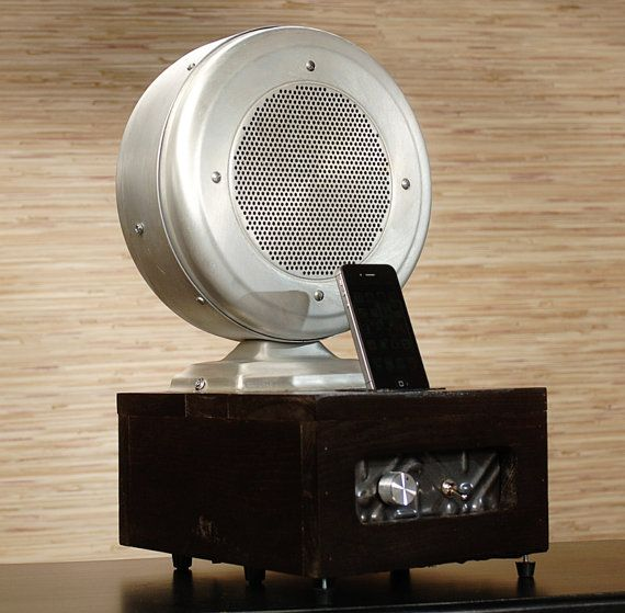 vintage wall speakers. ipod iphone charging station with speakers from vintage ham radio speaker wall e