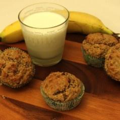 Volkoren haver-muffins met banaan