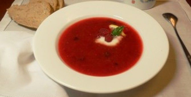 Cold Raspberry Soup.