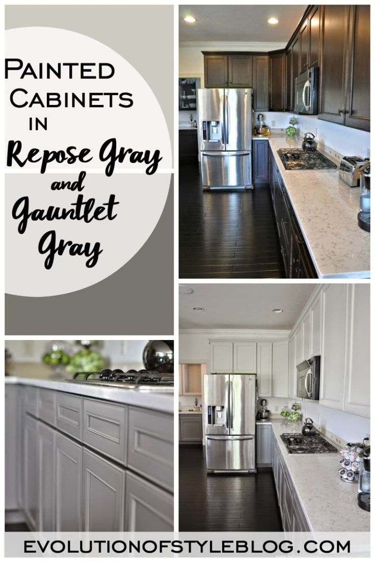 Best Painted Cabinets In Repose Gray And Gauntlet Gray 400 x 300