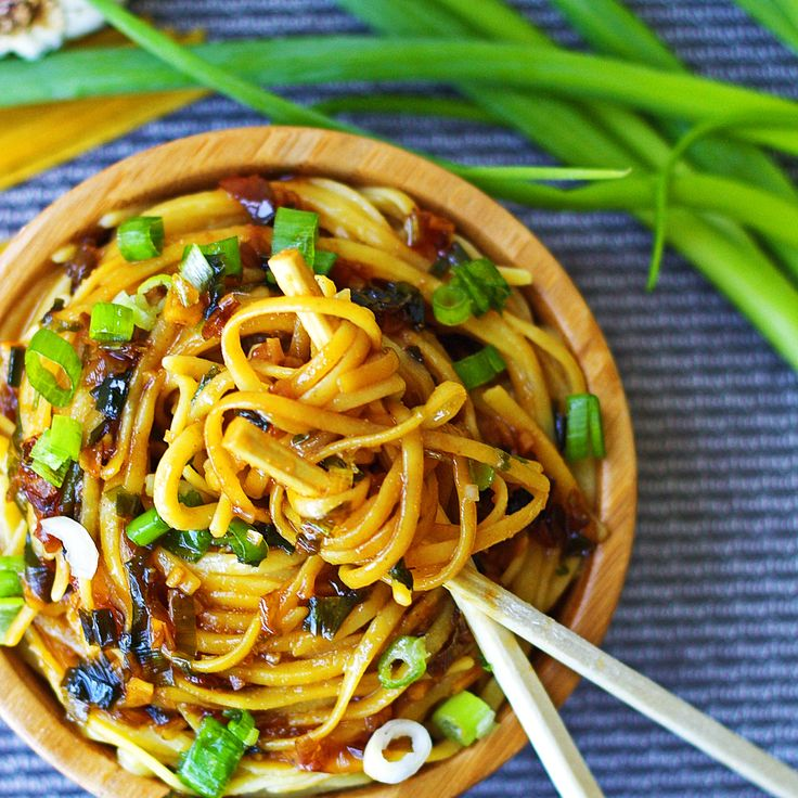 These sticky garlic noodles taste just like the An's Famous Garlic Noodles and…