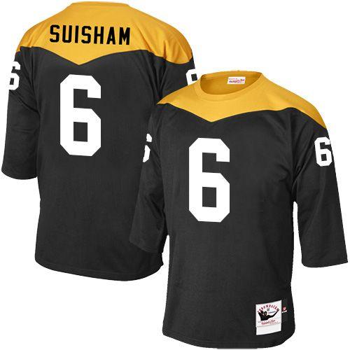 b1f2321e6 ... Shaun Suisham Mens Elite Black Jersey Nike NFL Pittsburgh Steelers Home  6 1967 Throwback ...