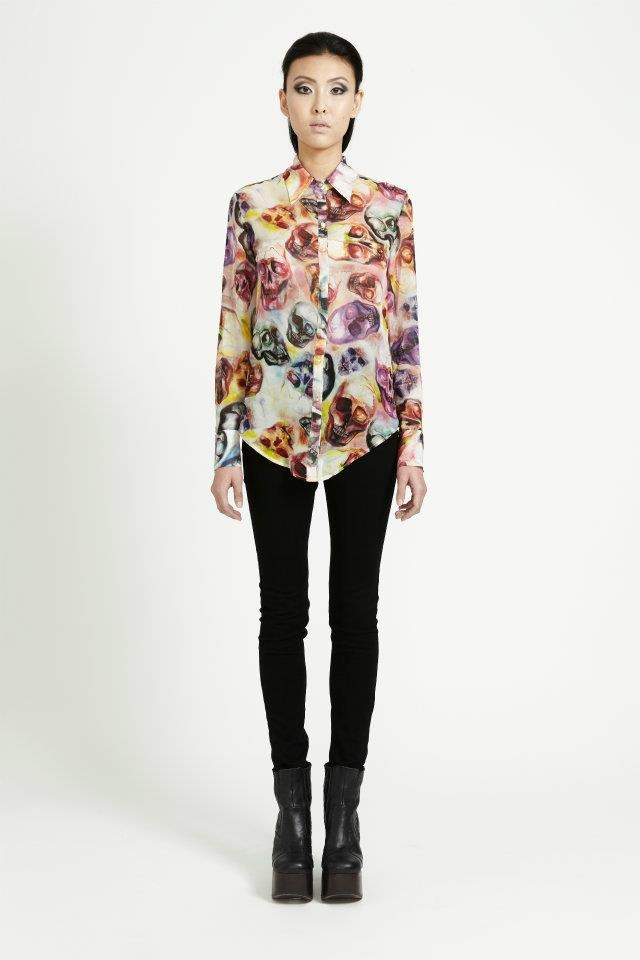 LOVELY SKULL BLOUSE