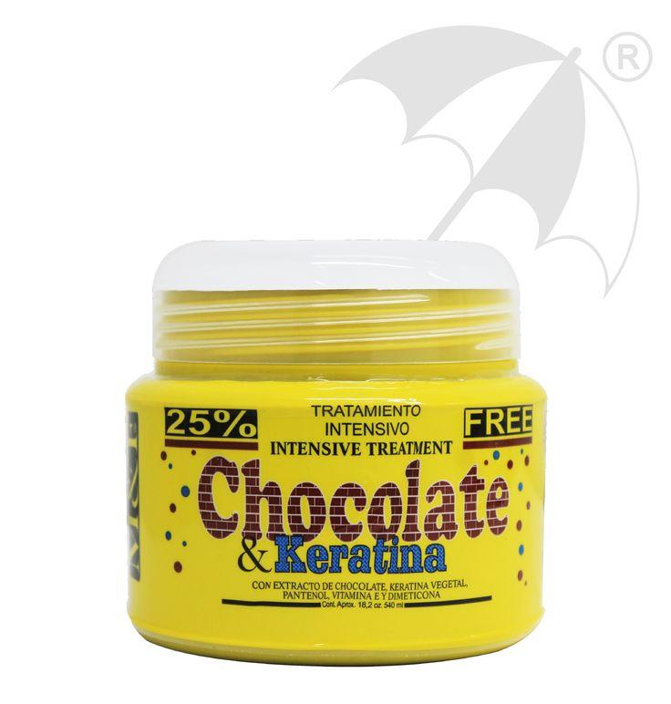 TRATAMIENTO CHOCOLATE & KERATINA Para cabellos secos, grasos y maltratados. Desarrollado con extracto de chocolate y keratina vegetal que retiene la humedad al interior del cabello. Dando vitalidad y reparación interna.