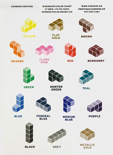 코우너스의 리소 컬러 차트