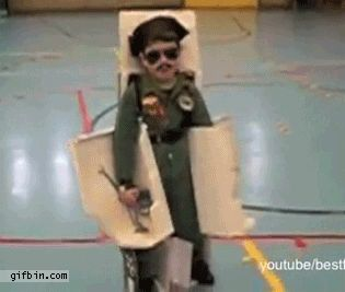 Militant Transformer Kid | Community Post: 32 Parents Who Nailed It On Halloween