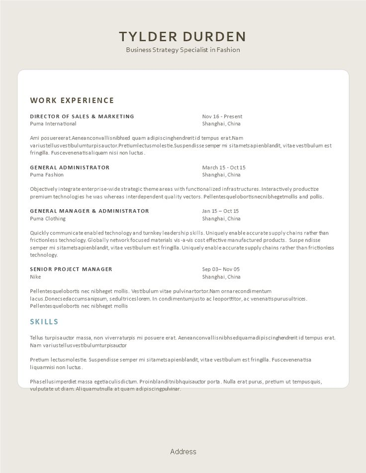 Creative Resume Fashionista - Creative Resume Fashion Industry - clothing sales resume