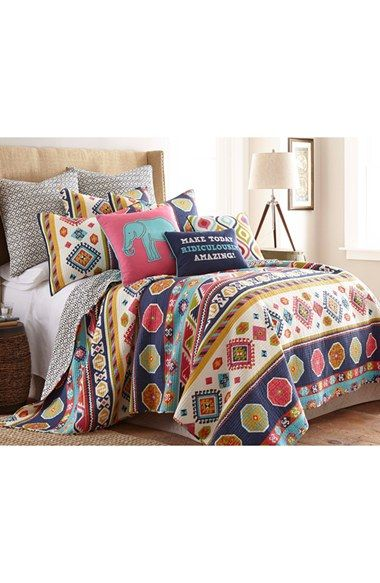 114 e with shipping. Levtex+'Bright+Swazi'+Reversible+Quilt+available+at+#Nordstrom