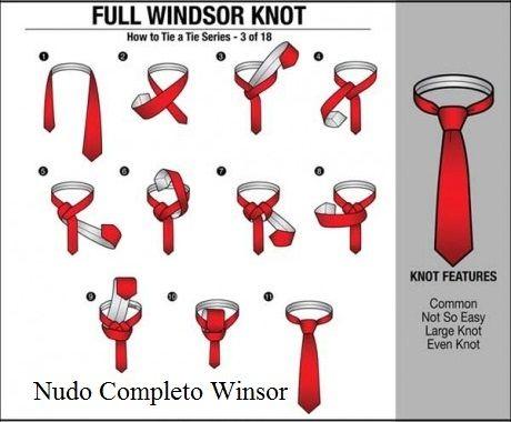 47 best nudos de corbata images on pinterest ties for Nudo de corbata windsor