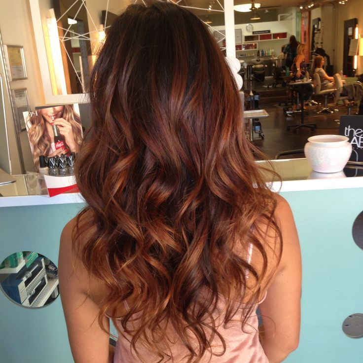 Red Brown to Copper Ombre