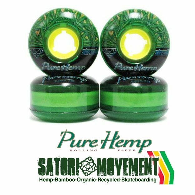 #PureHemp Recently Did A Skate Collab With @SATORIMOVEMENT & @CreationSkateboards. We Made These Bad Ass Green Urethane Wheels #RollYourOwn #Since1879 #AlwaysThinkingAboutRolling
